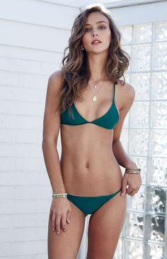 5d24a8e0ea111 Adventure Crisscross Back Fixed Triangle Bikini Top Bikini Bottoms, Bikini  Tops, Bikini Swimwear,