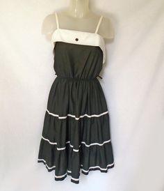 4e8841624dd1 Vintage Black Sundress, Medium Cool Summer Full Flare Skirt Dress, No  Wrinkle. Black SundressRed BeltWhite PanelingCute Summer DressesLayered ...