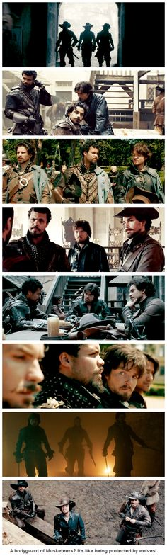 The Musketeers - 'Protected by wolves' Athos, Porthos & Aramis