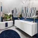2018 Mavi Banyo Tasarım Fikirleri ve Aksesuarları