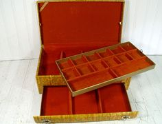 Vintage Lady Buxton 2 Piece Jewelry Box  Retro by DivineOrders, $36.00