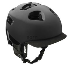 """Bern G2 Matte 2 Tone Helmet with Audio (Black, Medium/Large) by Bern Unlimited. $127.99. The high-end G2 is a second generation helmet from the original G.  (The G stands for Genius.)  The G2 features a removable brim visor plus an adjustable slider system for maximum comfort in all the elements. """"From my mountain bike in the Spring to deep pow days in Little Cottonwood in December, the G2 rocks."""