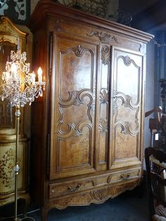 Stunning Late 1800's Burr Walnut Antique French Armoire P.O.A