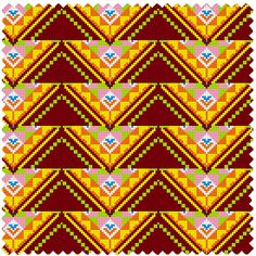 Ancient Thai pattern cloth woven by hand.