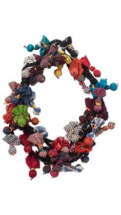 Accessories : Necklace Multi Pompons TMcollection