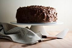 Hummingbird High - A Desserts and Baking Food Blog in Portland, Oregon: The Brown Betty Bakery's Chocolate Sour Cream Cake...