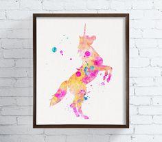 L'aquarelle licorne