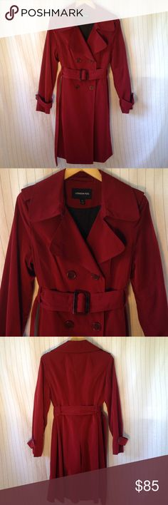 💎London Fog Trench Coat💎 Excellent condition. This is a beautiful trenchcoat that feels very luxurious and will keep you incredibly warm on those cold days. The fabulous red color is super trendy and fashionable and will go with any bottoms you choose to pair it with.  Size: M  See my other listings! 😊 Bundle for big discounts! 💸 Open to offers!  Sierra trading post Patagonia Columbia outerwear winter snow London Fog Jackets & Coats Trench Coats