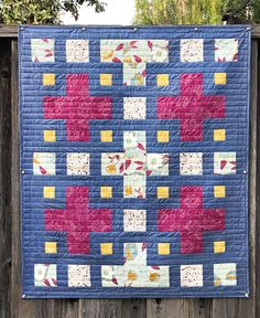 The Violet Quilt - A New Pattern | Kitchen Table Quilting Twin Quilt Pattern, Twin Quilt Size, Pattern Paper, Pdf Patterns, Quilt Patterns, Plus Quilt, Cross Quilt, Purple Quilts, Quilting Patterns
