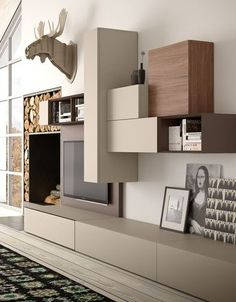 2017 – 2018 new tv wall unit models. New tv wall panel The system is a new proposal which exalts the aesthetical, functional and up-to-date contents of tao day from which it derives. Living Room Tv Unit, Interior Design Living Room, Living Room Designs, Living Spaces, Living Room Colors, Living Room Decor, Home Decor Furniture, Furniture Design, Modern Tv Wall Units