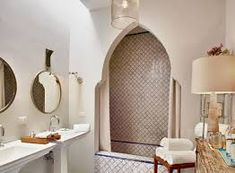 Image result for shower curtain moroccan tiles