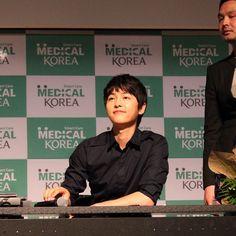 Song Joong Ki 송중기 in Doha, Qatar as the Honorary Ambassador of Korean Healthcare
