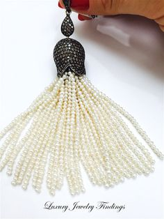 Pearl Tassel for Jewelry Making Beaded by LuxuryJewelryFinding