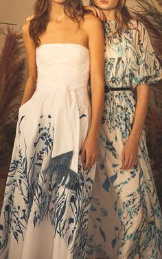 Strapless Full Skirt Dress by LELA ROSE for Preorder on Moda Operandi