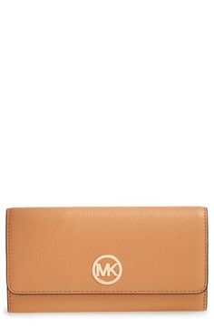MICHAEL Michael Kors 'Fulton' Trifold Leather Wallet available at #Nordstrom