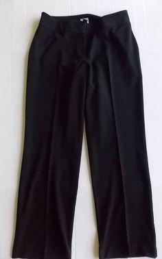 Chicos 1.5 Dress Pants Women Medium Black Office Career  #Chicos #DressPants