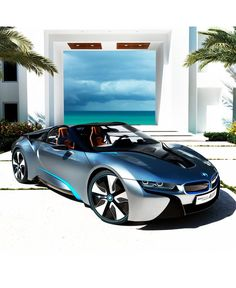 BMW i8 Spyder, Wow what a machine..love the name, could see myself getting into trouble in this, lol!♡♡♡