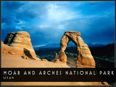 Postcard of Moab and Arches national Park, Utah