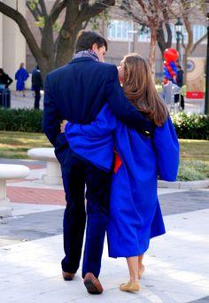 Kelly Walking Tia Gannon Kraft Into Her Smu Graduation