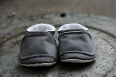 Gray Canvas Boy Shoes