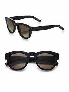 Saint Laurent - Bold Round Sunglasses - Saks.com