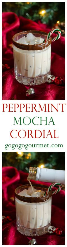 This Peppermint Mocha Cordial featuring mü coffeehouse cocktails is the perfect way to put some jolly in your holly!   Go Go Go Gourmet @gogogogourmet #ad #muBARista