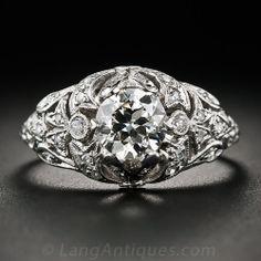 .90 Carat Edwardian-Art Deco Engagement Ring