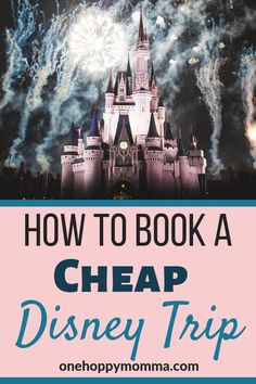 Planning to visit a Disney resort? Learn how to save money booking your next Disney vacation @onehoppymomma #disneytrip #disneyvacation #disneyhacks #disneyonabudget via @onehoppymomma