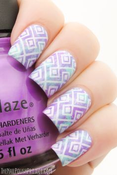 Pastel Geometric Nail Art #nails #nailart...x