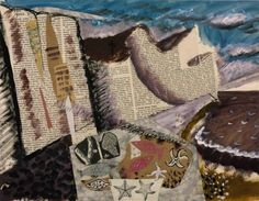 'Beach with Starfish' by British artist John Piper Gouache, printed paper and ink on paper, 380 x 485 mm. via the Tate John Piper, Mixed Media Collage, Collage Art, Collages, Making Stained Glass, Tate Gallery, Green Man, Landscape Art, Starfish