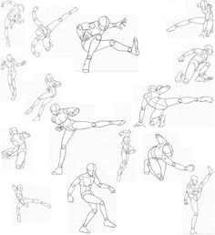 Ideas for drawing people body sketches illustrations Figure Drawing Reference, Drawing Reference Poses, Action Pose Reference, Body Sketches, Drawing Sketches, Sketching, Madara Susanoo, Manga Poses, Fighting Poses