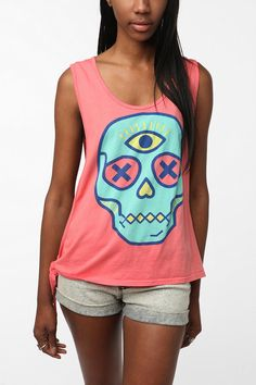 UrbanOutfitters.com > Truly Madly Deeply Third Eye Side-Tie Tank