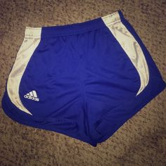 """Adidas Royal Blue Running Shorts Adidas running shorts size Small . They are super comfortable and lightweight - perfect to run in. They do have the built in """"underwear"""" (see second picture). Selling for ✨$15✨ will ship same or next day depending on time of purchase ⚡️ Adidas Shorts"""