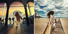 2)Follow Me To . . . (From the rice fields of Bali to the streets of Istanbul, Russian photographer Murad Osmann documents his globetrotting travels with his girlfriend leading the way. With each photo, posted to Instagram, we see the photographer's point of view with his extended hand holding onto his partner's)