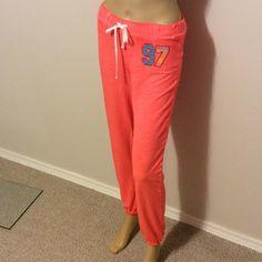 "Bundle pink & orange neon sweatpants NWOT neon sweats pink day wild down keg orange have # 97 on leg. Inseam 29"" waist is 24"" with elastic stretch waist Hard Candy Other"