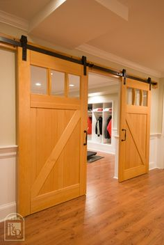 Sliding Barn Doors Interior - For more Interior Barn Door treatments see InteriorBarnDoors.org