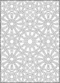 Alhambra coloring pages ~ vector - arabic ceramic tile | Motifs orientaux ...