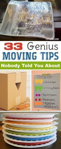 Lots of clever moving, packing and organizing tips for houses, apartments and out of state or long distance moves! Moving into a new house? Here you will find clever moving hacks everyone should know, including a moving checklist. Listotic.com #NewHouseChecklist