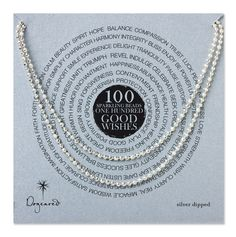 100 good wishes sparkle necklace, sterling silver - 32""