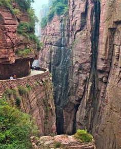 Looks awesome + hella scary: Guoliang Tunnel Road in China's Taihang Mountains