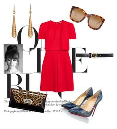 """""""°Lovely Day°"""" by paibear ❤ liked on Polyvore featuring Alexander McQueen, Christian Louboutin, Gucci and Linda Farrow"""