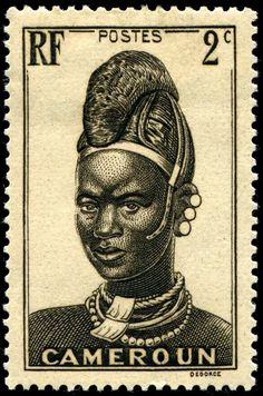 Stamps ©: Stamp of Cameroon, Africa [{Mandara Woman}]. Old Stamps, Rare Stamps, Vintage Stamps, Postage Stamp Art, Mail Art, Stamp Collecting, Drawing, History, Retro
