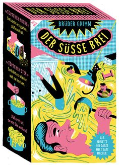 Joyful illustration on sweet porridge packaging by Berlin's Golden Cosmos