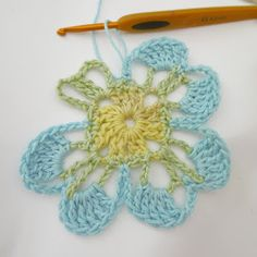 Susan Pinner: CROCHET: Amelia Double Flower motif