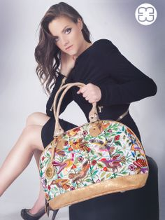 You can hear all the pretty birds singing with this intricate huipil from Santiago Atitlán used in this Fancy bag