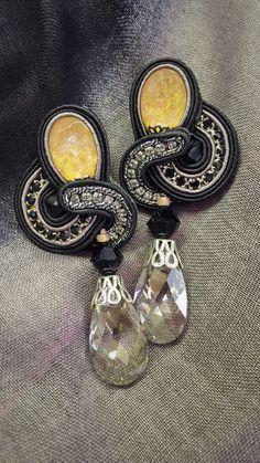 Jalousie earrings for a dramatic evening look. #doricsengeri #earrings #fashion…