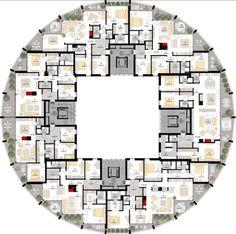 Circular floor plan