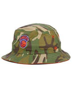 8122e8da3a1  47 Brand New York Knicks NBA HWC Woodrow Bucket Hat Men - Sports Fan Shop  By Lids - Macy s