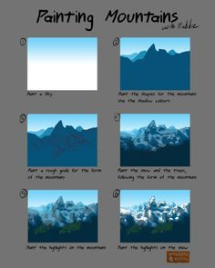 What is Your Painting Style? How do you find your own painting style? What is your painting style? Digital Painting Tutorials, Digital Art Tutorial, Art Tutorials, Concept Art Tutorial, Landscape Drawings, Landscape Art, Digital Art Beginner, Mountain Drawing, Poses References