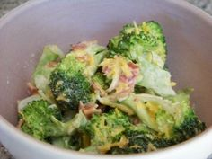 Bacon Cheddar Broccoli Salad - Low carb recipes suitable for all low carb diets - Sugar-Free Low Carb Recipes